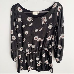 Deletta Floral Wished Blooms Dandelion Layered Top
